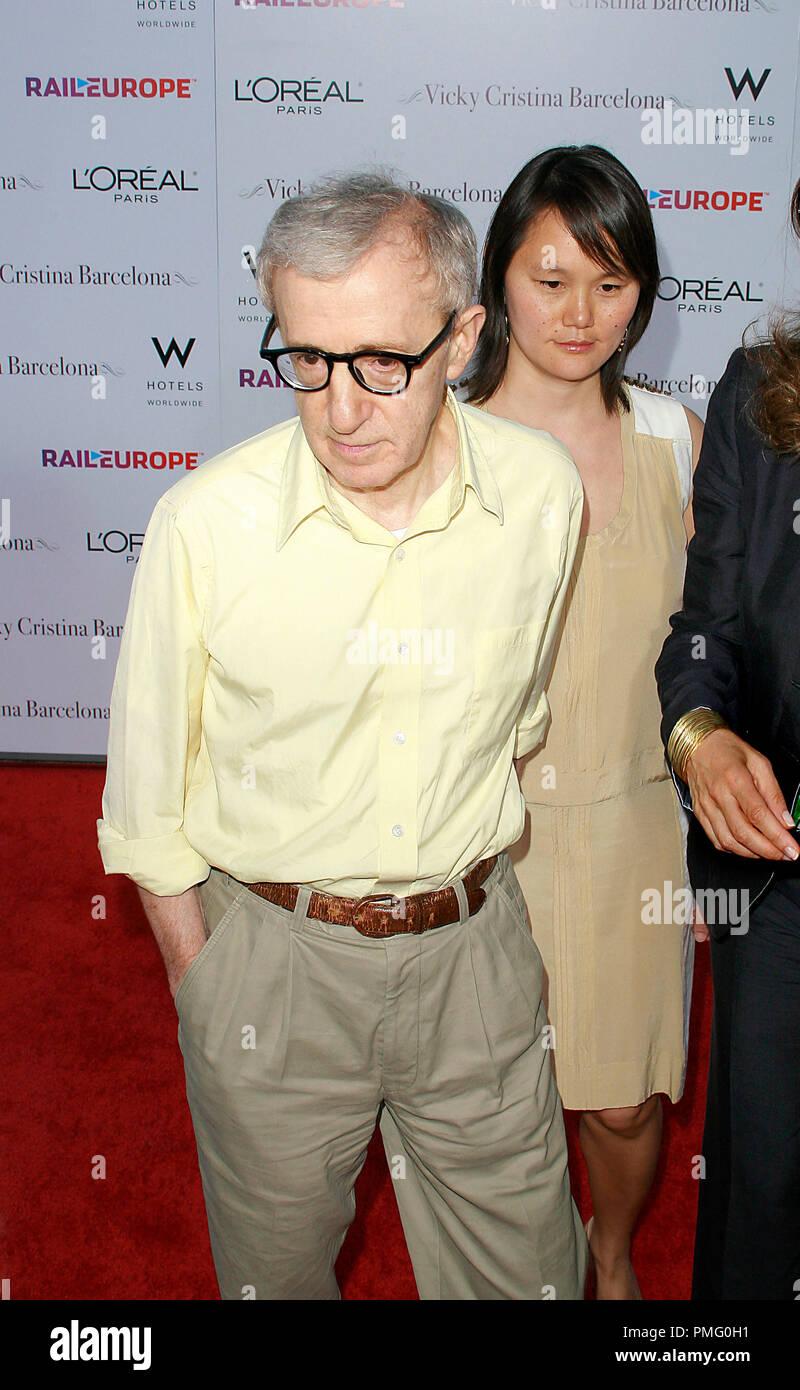Vicky Cristina Barcelona Premiere Writer Director Woody Allen Soon Yi Previn