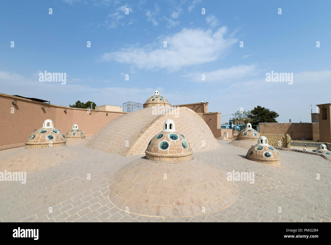 Roof of Sultan Mir Ahmed bathhouse, Kashan, Iran - Stock Image