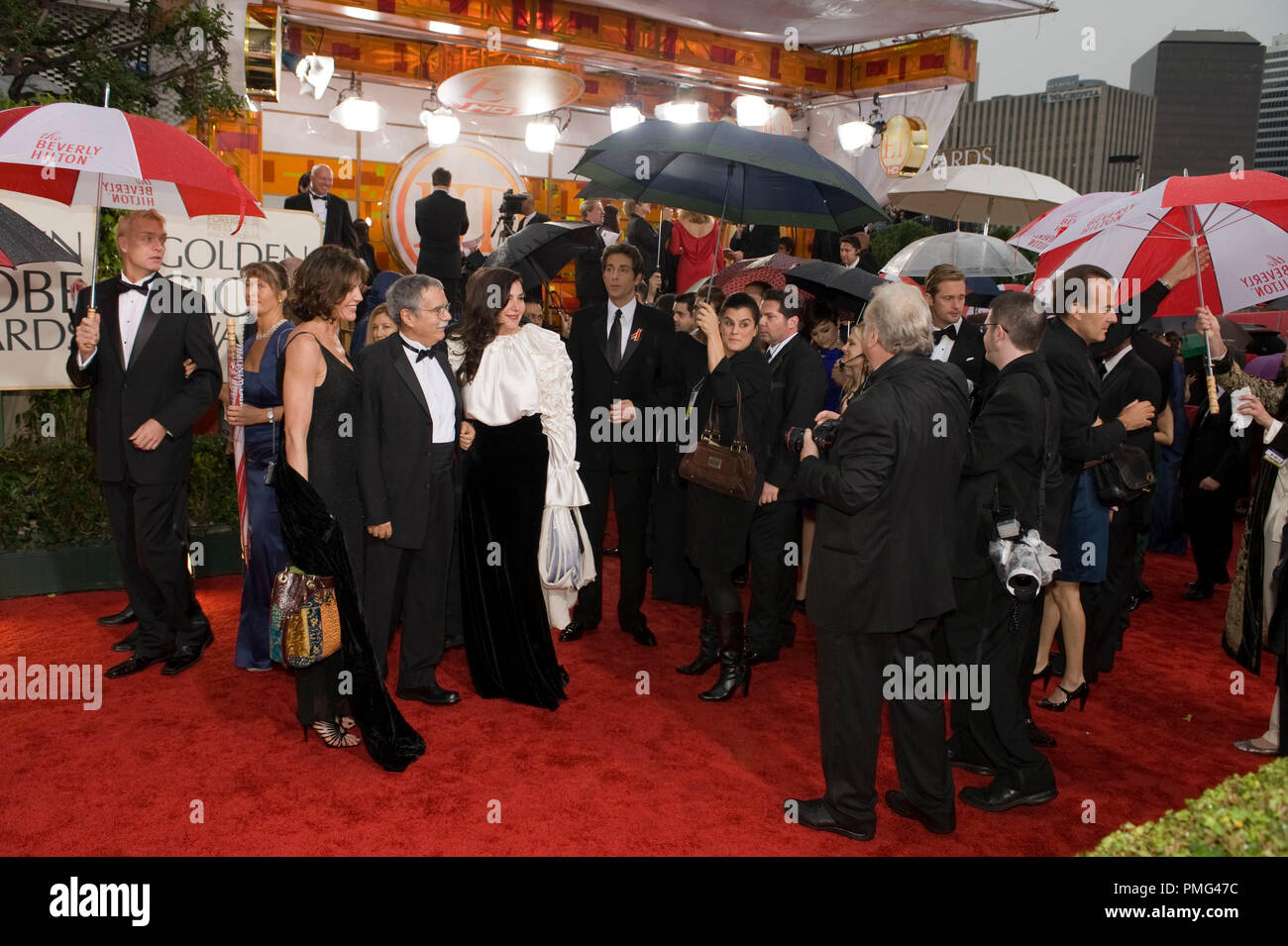 Italian composer Carlo Siliotto and guests arrive at the 67th Annual Golden Globe Awards at the Beverly Hilton in Beverly Hills, CA Sunday, January 17, 2010. - Stock Image
