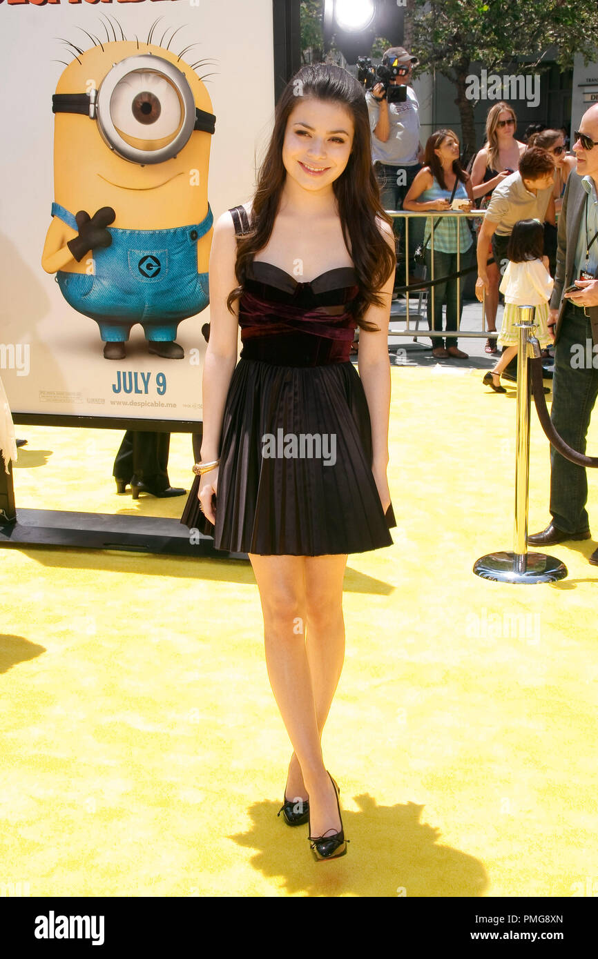 Miranda Cosgrove at the Premiere of Universal Pictures' 'Despicable Me'. Arrivals held at the Nokia Theatre at L.A. Live in Los Angeles, CA, June 27, 2010.  Photo by Joseph Martinez / PictureLux File Reference # 30307_048PLX   For Editorial Use Only -  All Rights Reserved - Stock Image