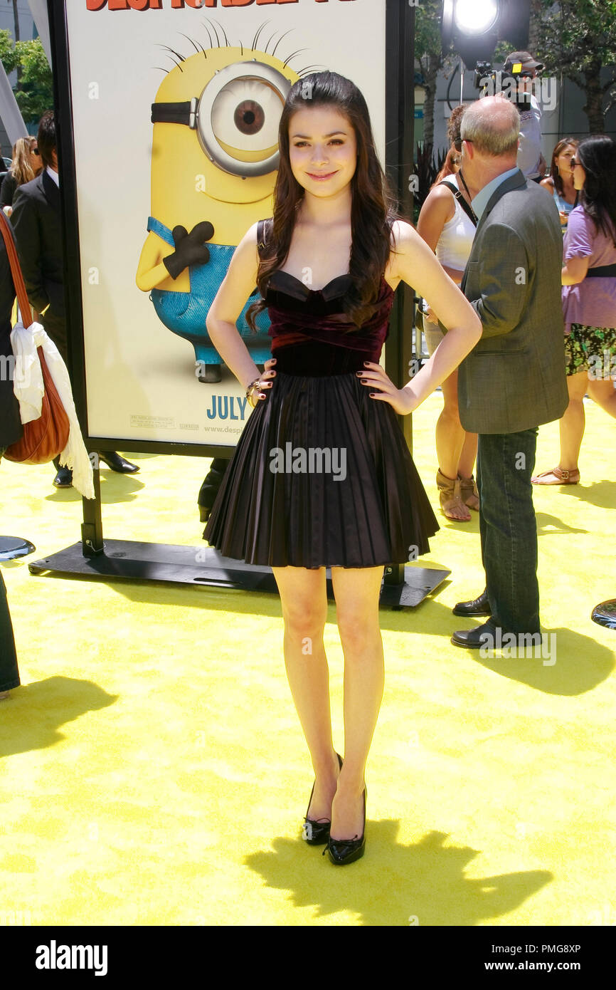 Miranda Cosgrove at the Premiere of Universal Pictures' 'Despicable Me'. Arrivals held at the Nokia Theatre at L.A. Live in Los Angeles, CA, June 27, 2010.  Photo by Joseph Martinez / PictureLux File Reference # 30307_049PLX   For Editorial Use Only -  All Rights Reserved - Stock Image