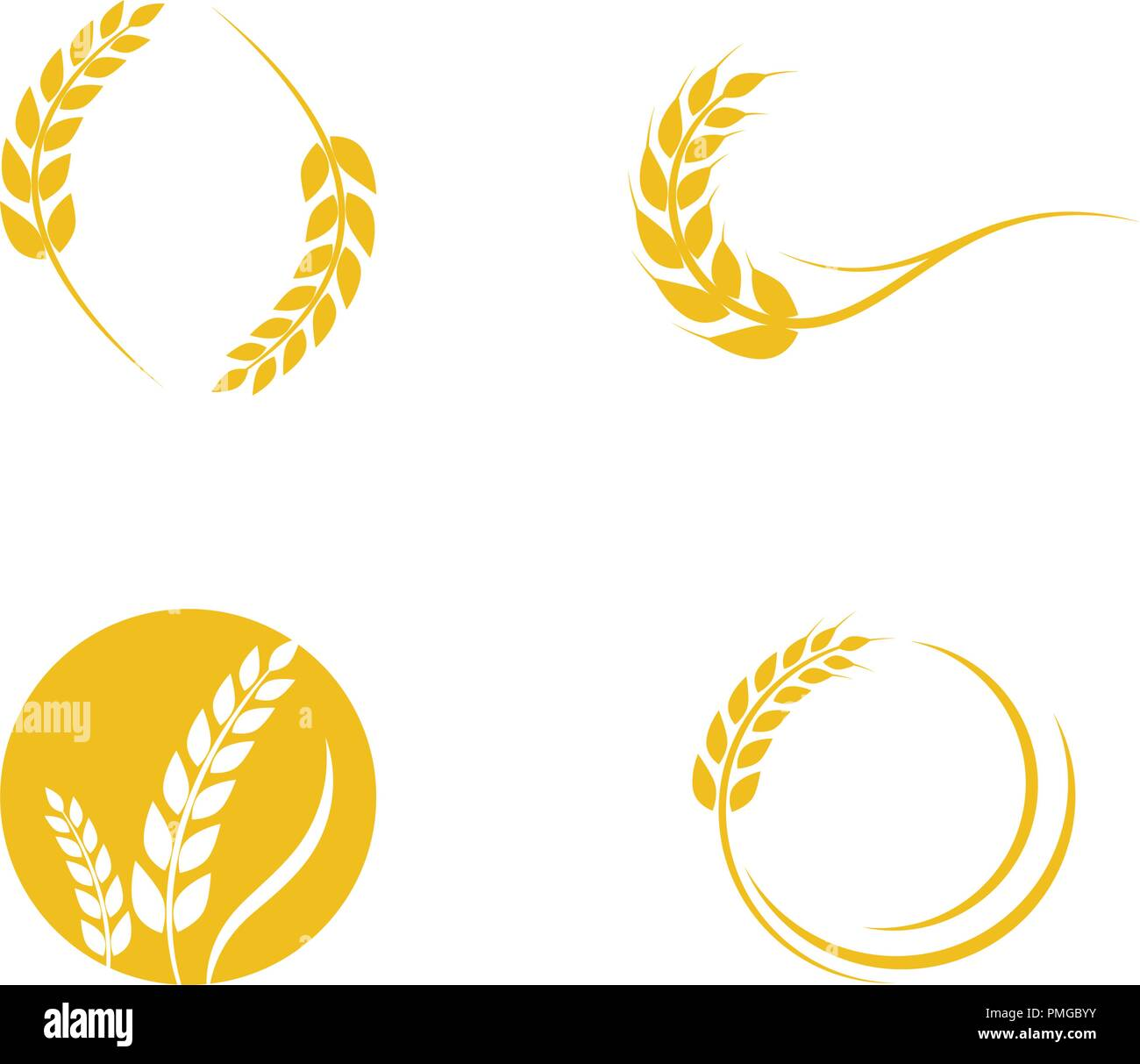 Agriculture wheat Logo Template vector icon design - Stock Vector