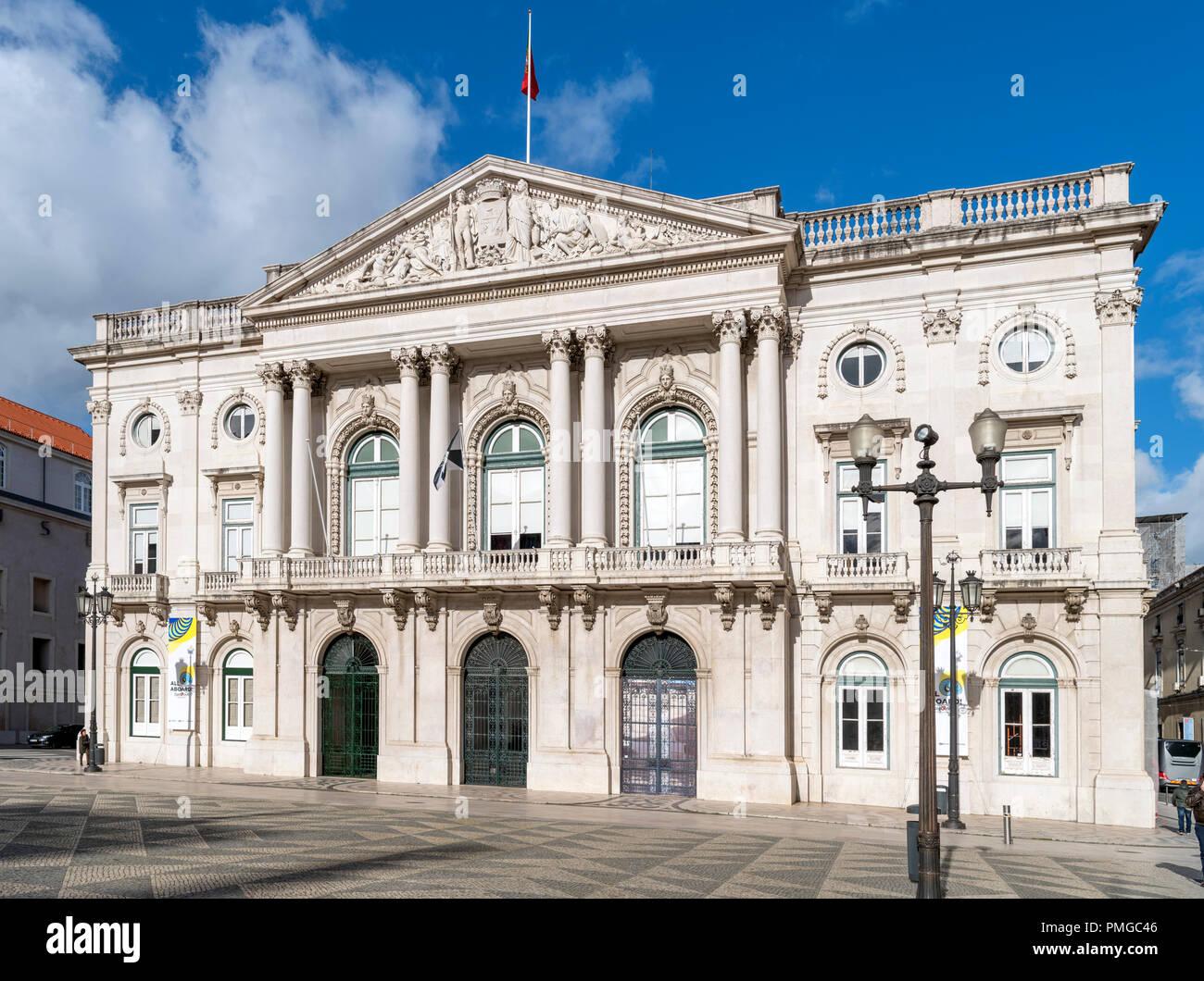 Lisbon Town Hall (Camara Municipal de Lisboa), Praca do Municipio, Lisbon, Portugal - Stock Image
