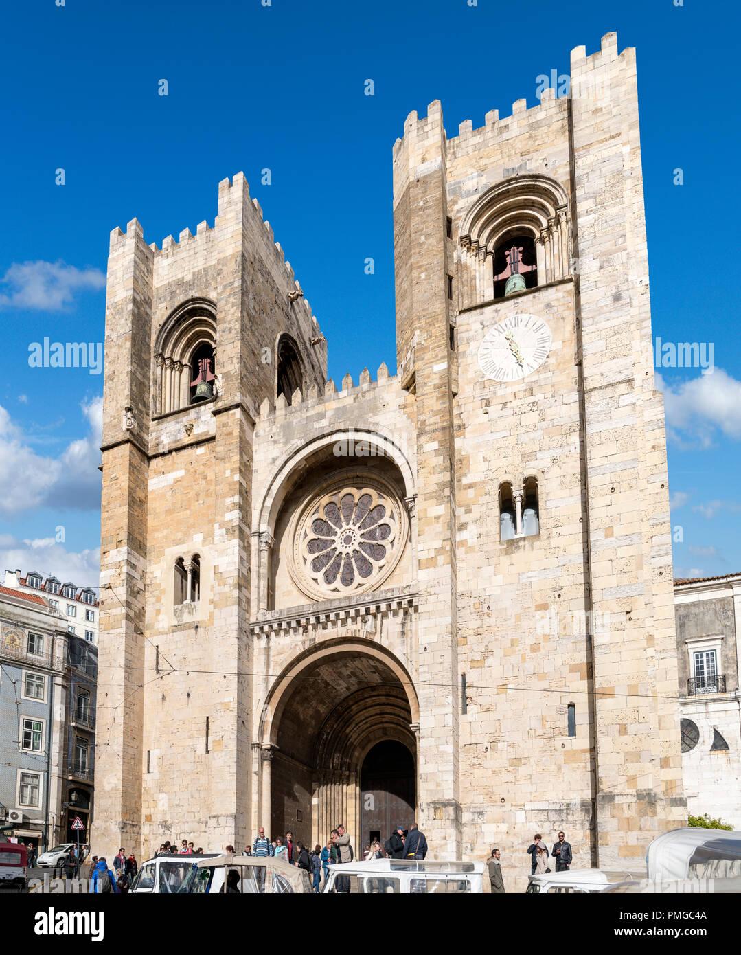 Lisbon Cathedral (Sé de Lisboa), Lisbon, Portugal - Stock Image