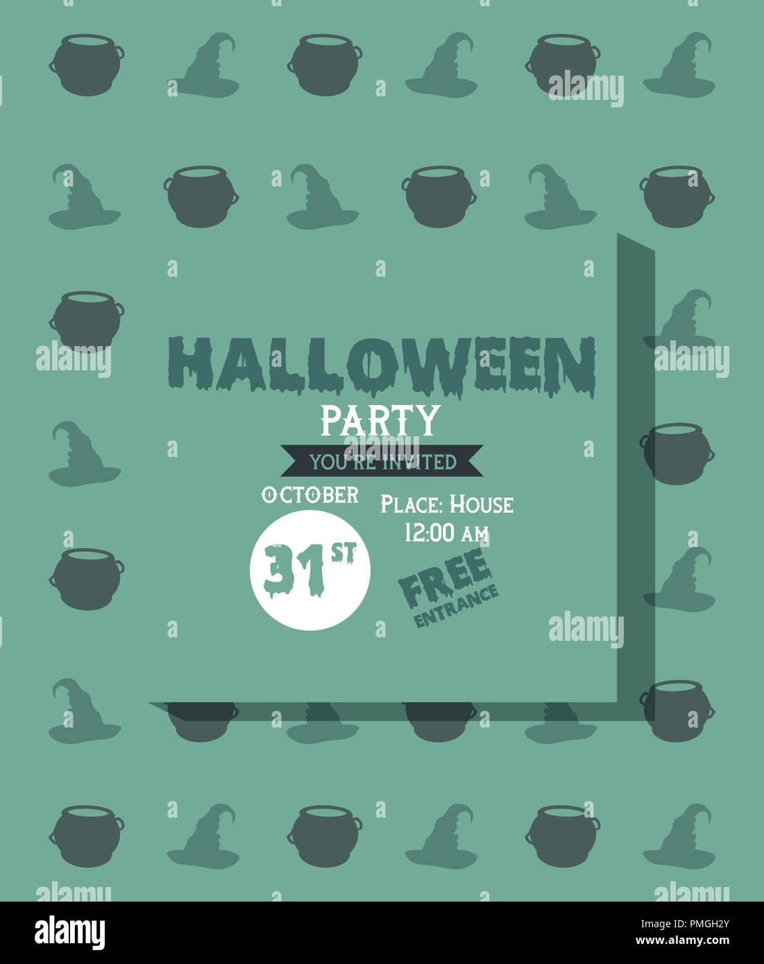 Halloween Cartoon Pumpkins Card Stock Photos Halloween Cartoon