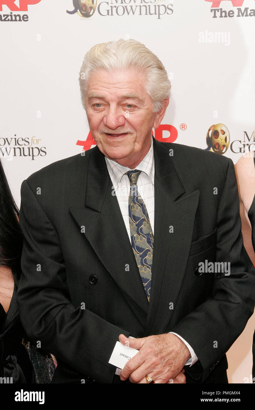 Seymour Cassel at the 9th Annual Movies for Grownups Awards. Arrivals held at the Beverly Wilshire Hotel in Beverly Hills, CA February 16, 2010. Photo by PictureLux File Reference # 30131_002PLX   For Editorial Use Only -  All Rights Reserved - Stock Image