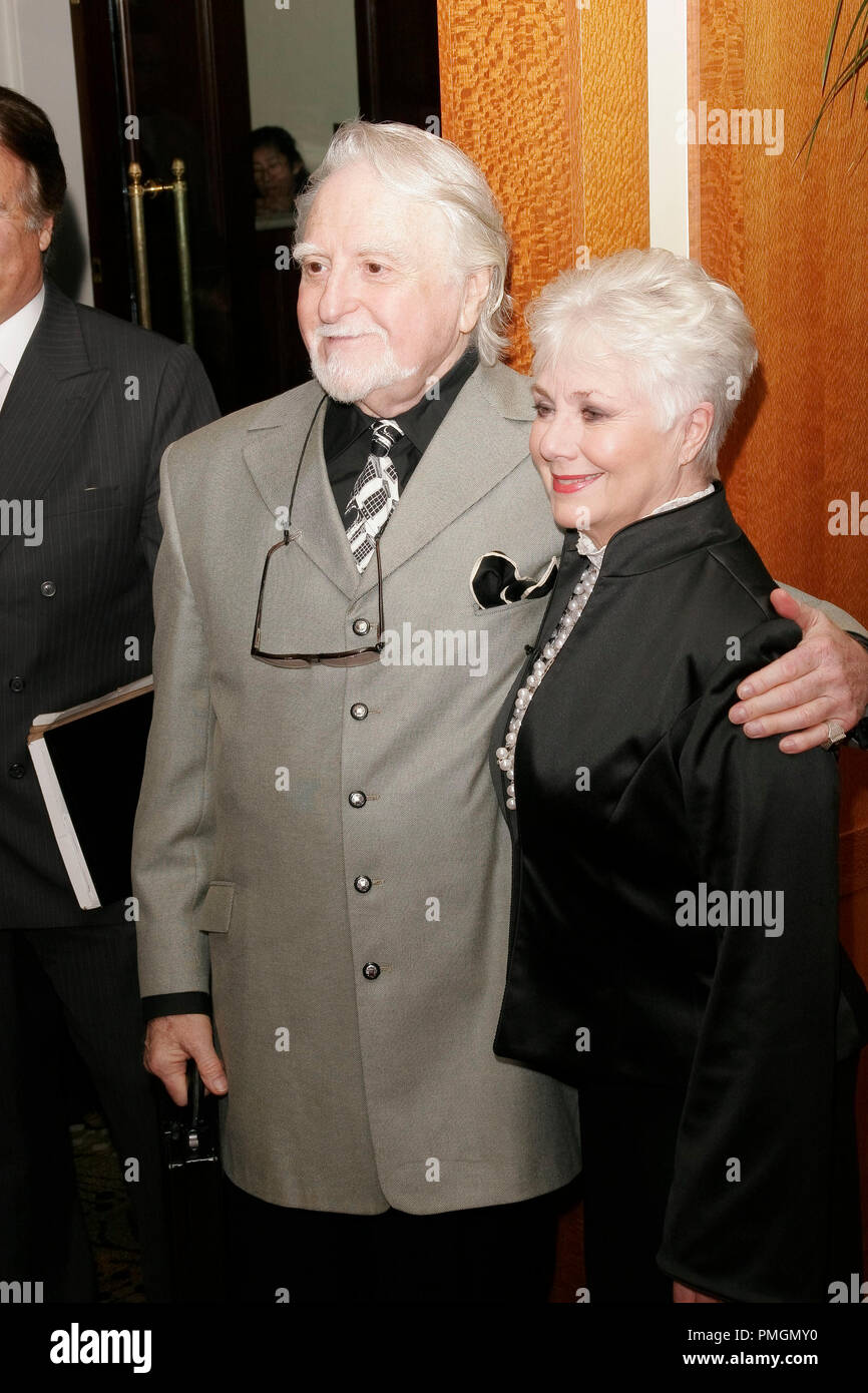 Marty Engels and Shirley Jones at the 9th Annual Movies for Grownups Awards. Arrivals held at the Beverly Wilshire Hotel in Beverly Hills, CA February 16, 2010. Photo by PictureLux File Reference # 30131_009PLX   For Editorial Use Only -  All Rights Reserved - Stock Image