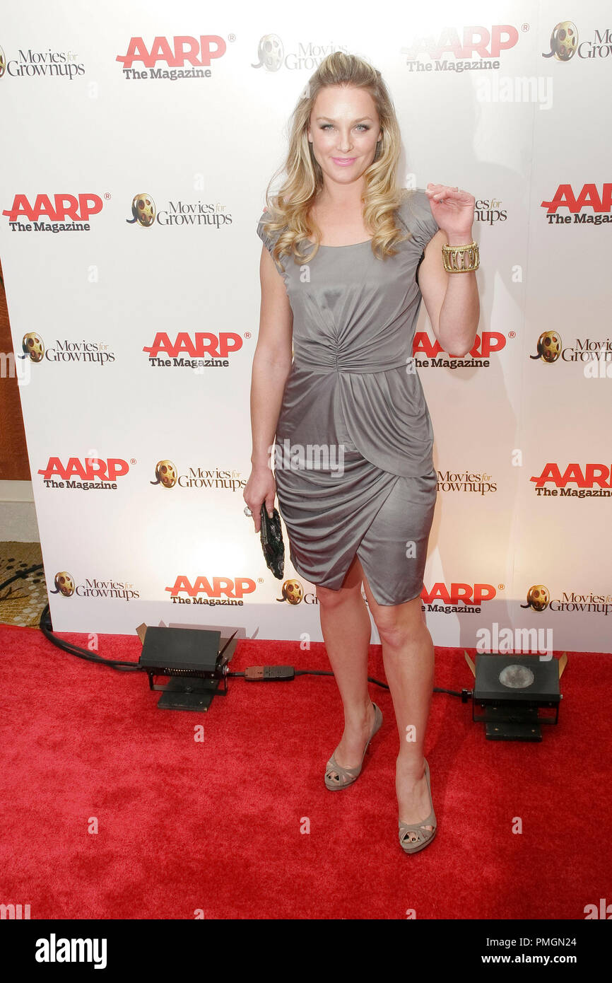 Elisabeth Rohm at the 9th Annual Movies for Grownups Awards. Arrivals held at the Beverly Wilshire Hotel in Beverly Hills, CA February 16, 2010. Photo by PictureLux File Reference # 30131_034PLX   For Editorial Use Only -  All Rights Reserved - Stock Image