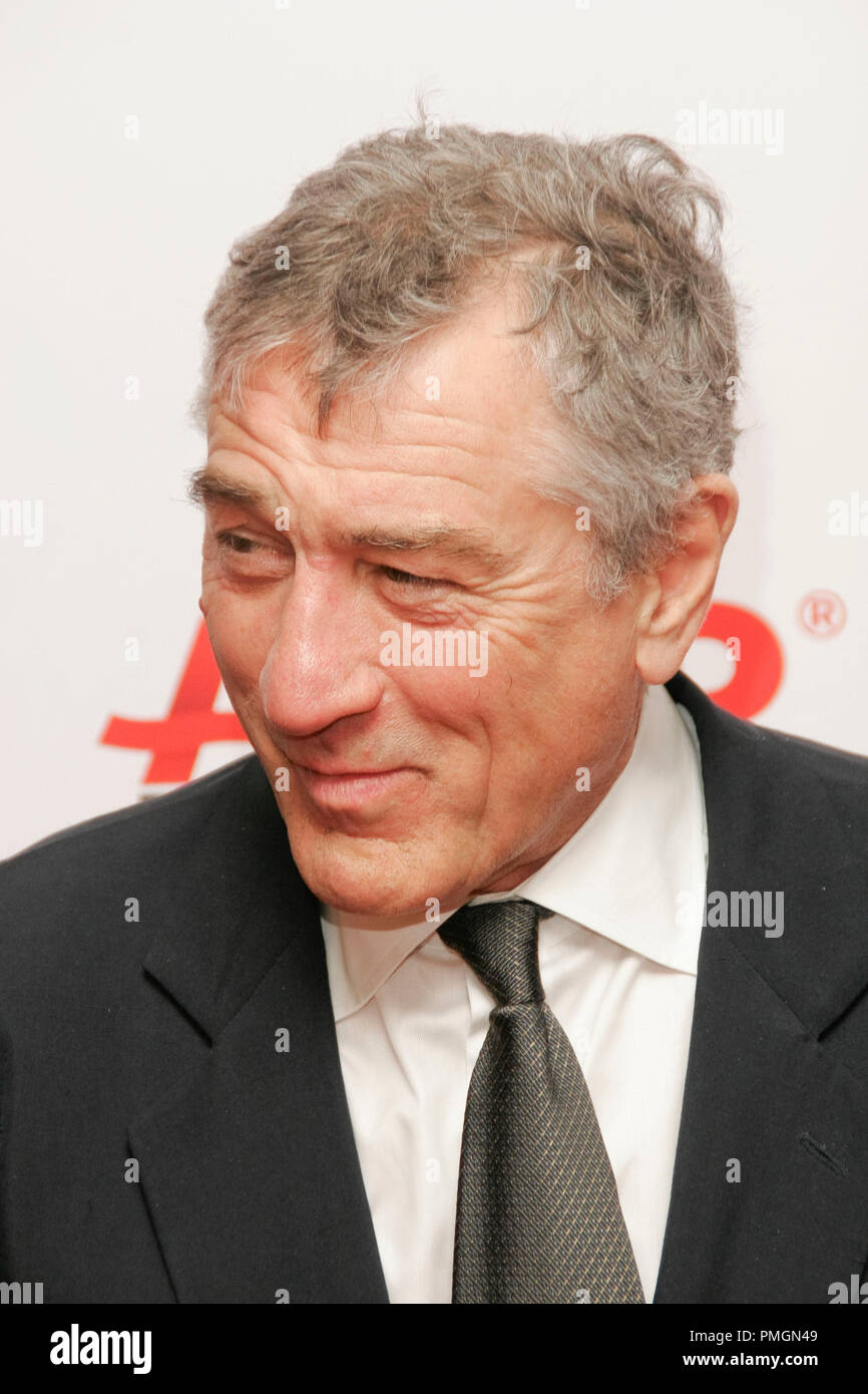Robert De Niro at the 9th Annual Movies for Grownups Awards. Arrivals held at the Beverly Wilshire Hotel in Beverly Hills, CA February 16, 2010. Photo by PictureLux File Reference # 30131_056PLX   For Editorial Use Only -  All Rights Reserved - Stock Image