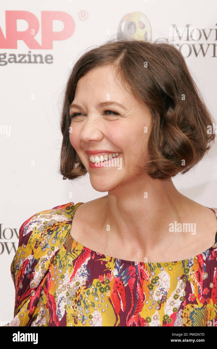 Maggie Gyllenhaal at the 9th Annual Movies for Grownups Awards. Arrivals held at the Beverly Wilshire Hotel in Beverly Hills, CA February 16, 2010. Photo by PictureLux File Reference # 30131_083PLX   For Editorial Use Only -  All Rights Reserved - Stock Image
