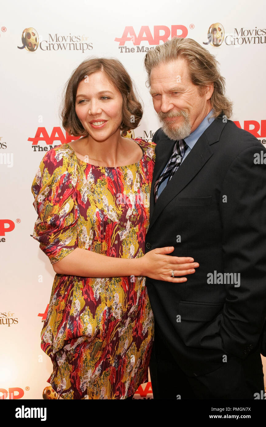 Maggie Gyllenhaal at the 9th Annual Movies for Grownups Awards. Arrivals held at the Beverly Wilshire Hotel in Beverly Hills, CA February 16, 2010. Photo by PictureLux File Reference # 30131_087PLX   For Editorial Use Only -  All Rights Reserved - Stock Image