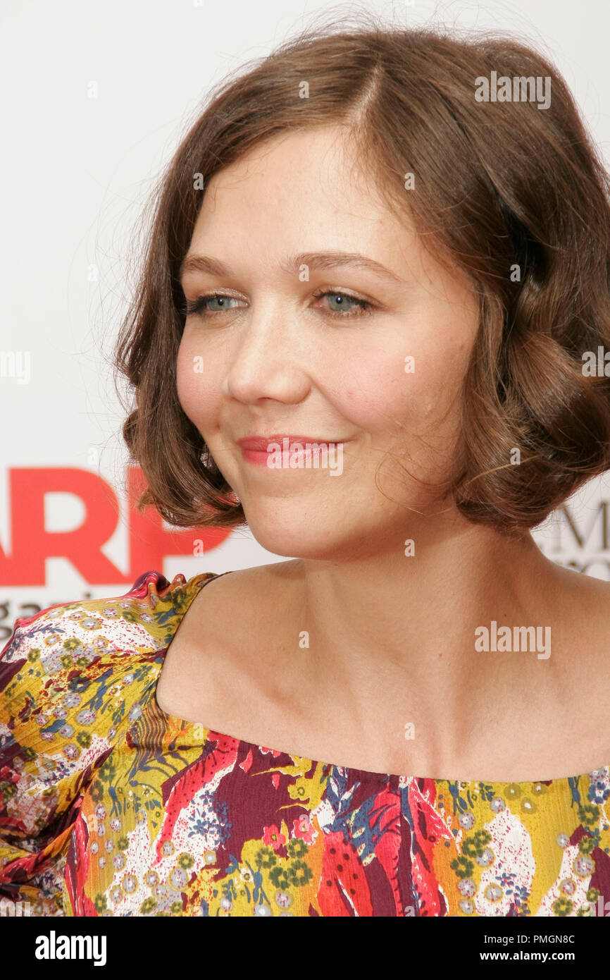 Maggie Gyllenhaal at the 9th Annual Movies for Grownups Awards. Arrivals held at the Beverly Wilshire Hotel in Beverly Hills, CA February 16, 2010. Photo by PictureLux File Reference # 30131_089PLX   For Editorial Use Only -  All Rights Reserved - Stock Image