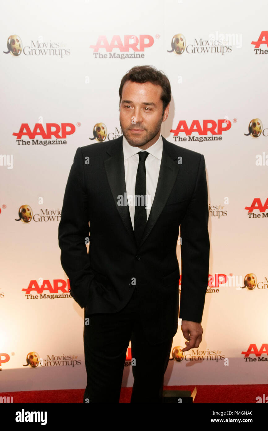 Jeremy Piven at the 9th Annual Movies for Grownups Awards. Arrivals held at the Beverly Wilshire Hotel in Beverly Hills, CA February 16, 2010. Photo by PictureLux File Reference # 30131_103PLX   For Editorial Use Only -  All Rights Reserved - Stock Image