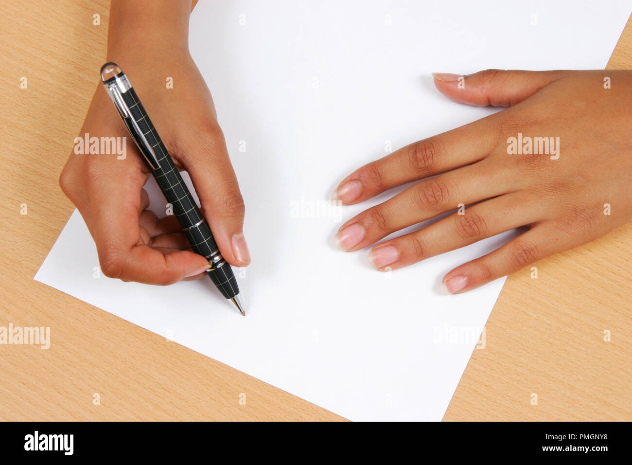 write on a piece of paper