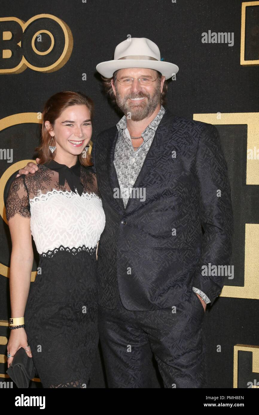 Daughter, Jeffrey Nordling at arrivals for HBO Emmy Awards After-Party, Pacific Design Center, Los Angeles, CA September 17, 2018. Photo By: Priscilla Grant/Everett Collection Stock Photo