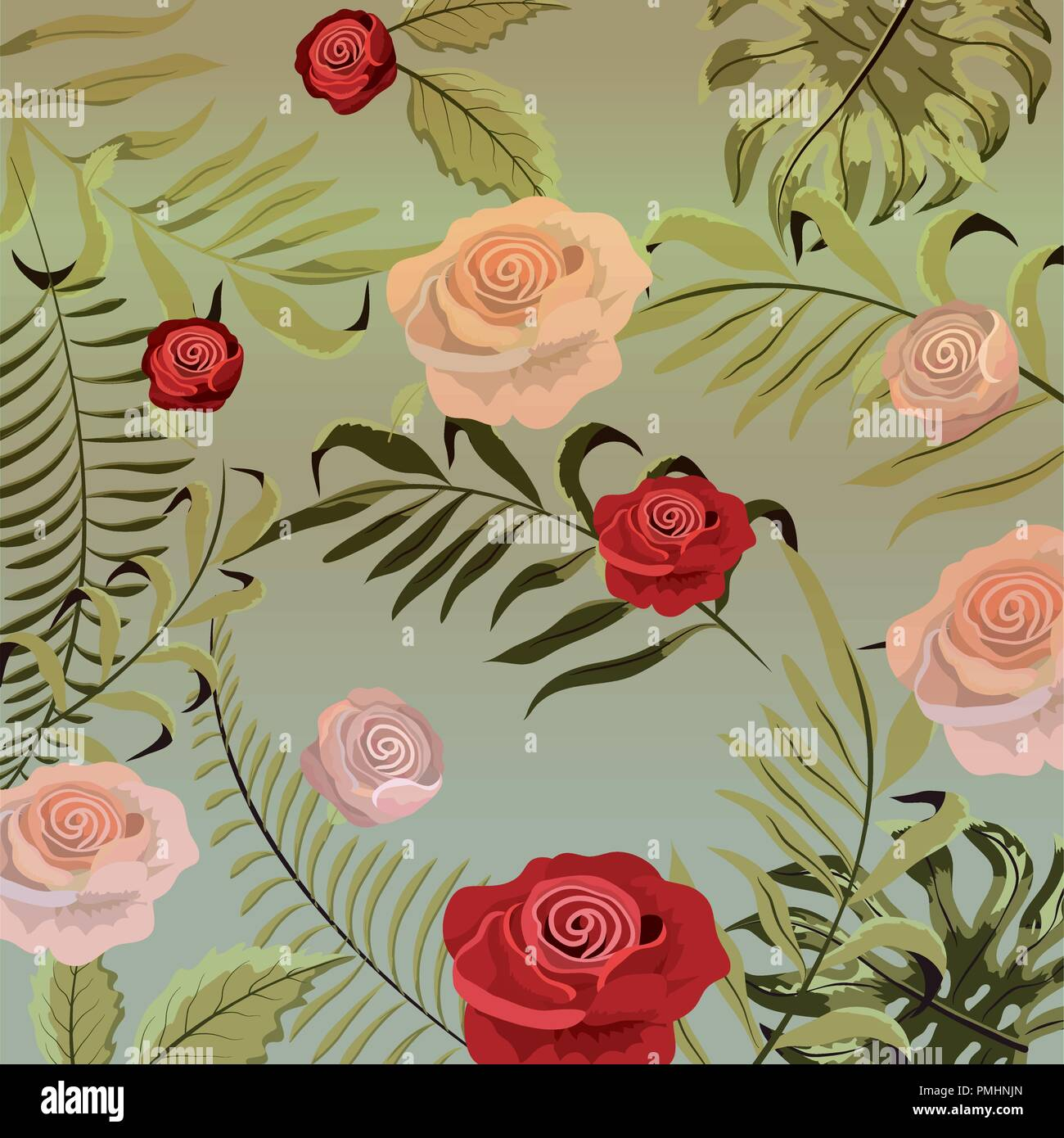 Vintage Floral Background Stock Vector Art Illustration Vector