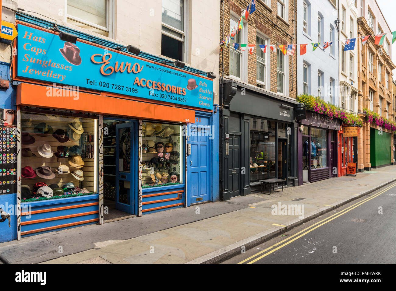 A typical view in London Stock Photo
