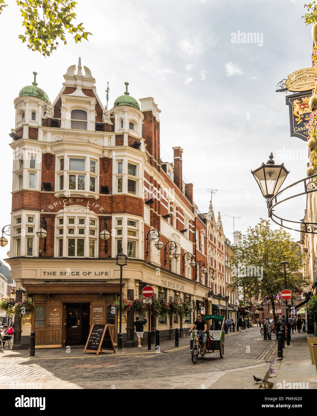 A typical view in London - Stock Image