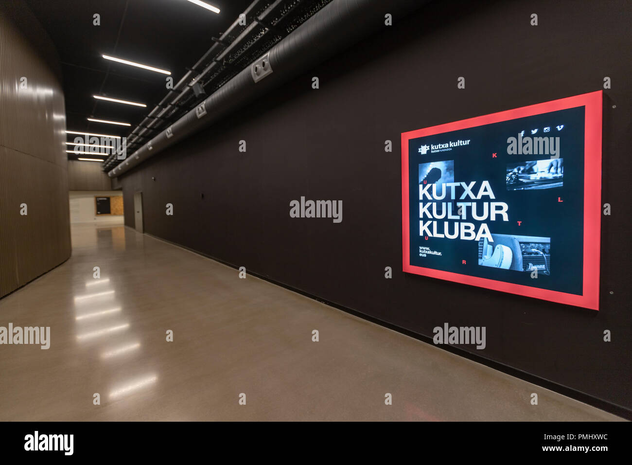 Kutxa Kultur Kluba in Tabakalera, San Sebastián, Basque Country, Spain - Stock Image