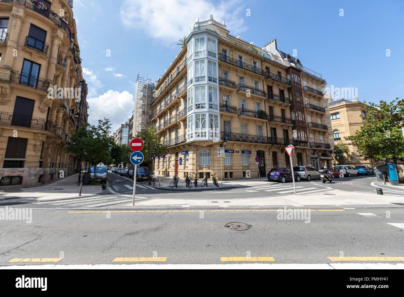San Sebastian, Donostia, Basque Country, Spain - Stock Image