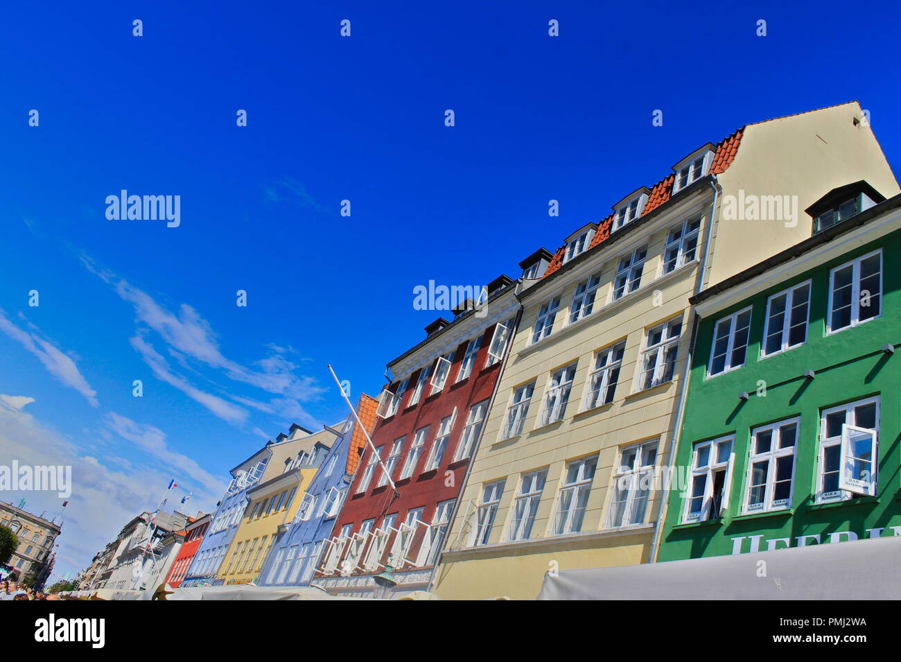 Colourful houses in Copenhagen - Stock Image
