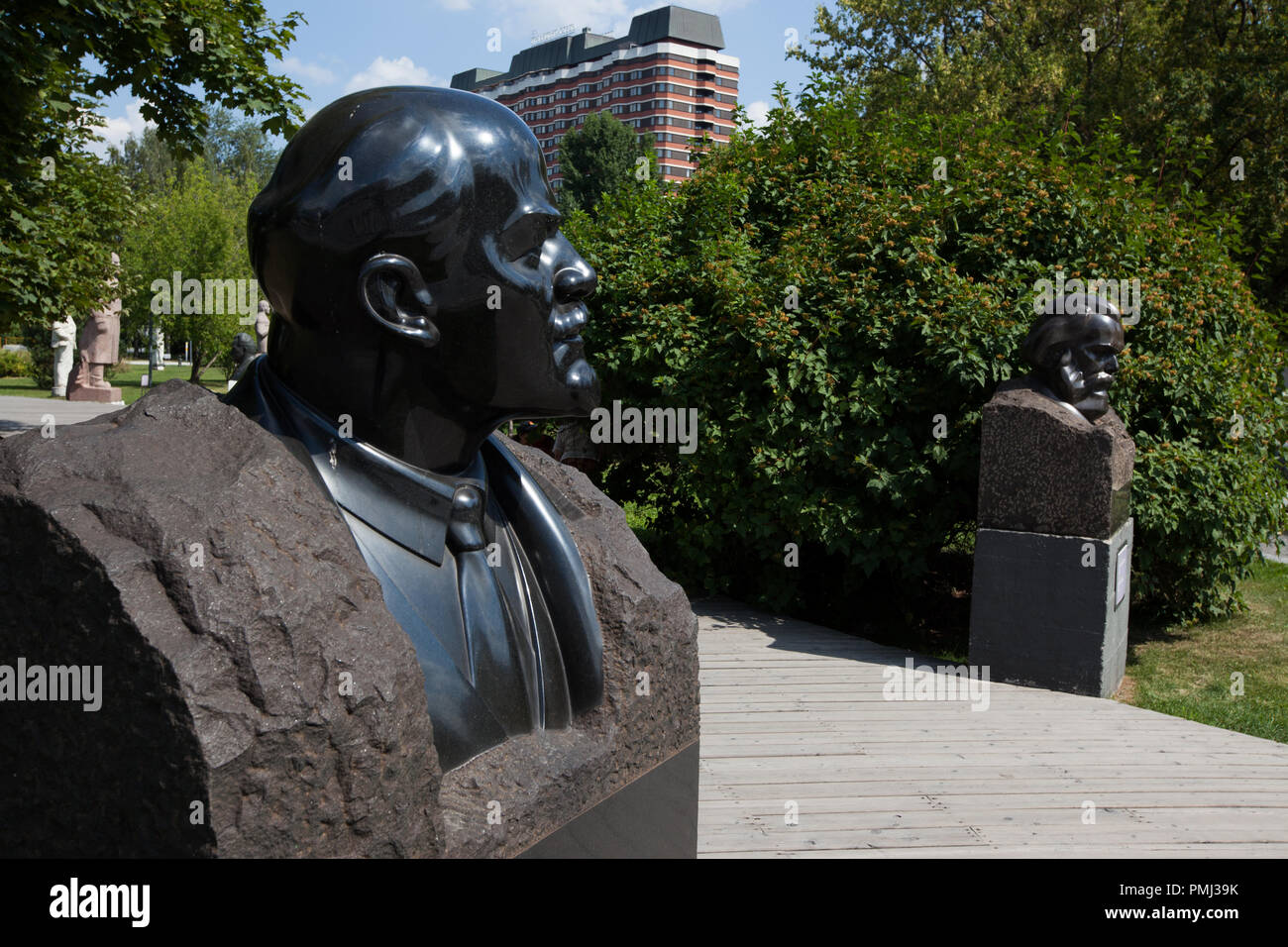 Lenin in Muzeum Park of Moscow, Russia - Stock Image