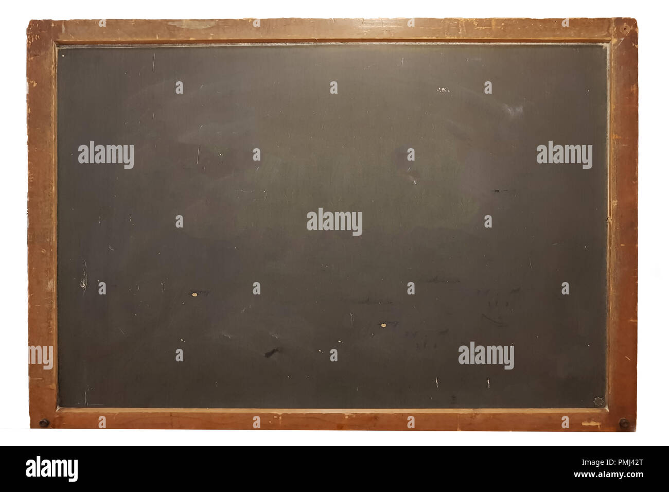 Blank big school blackboard, write your own message with copy space - Stock Image