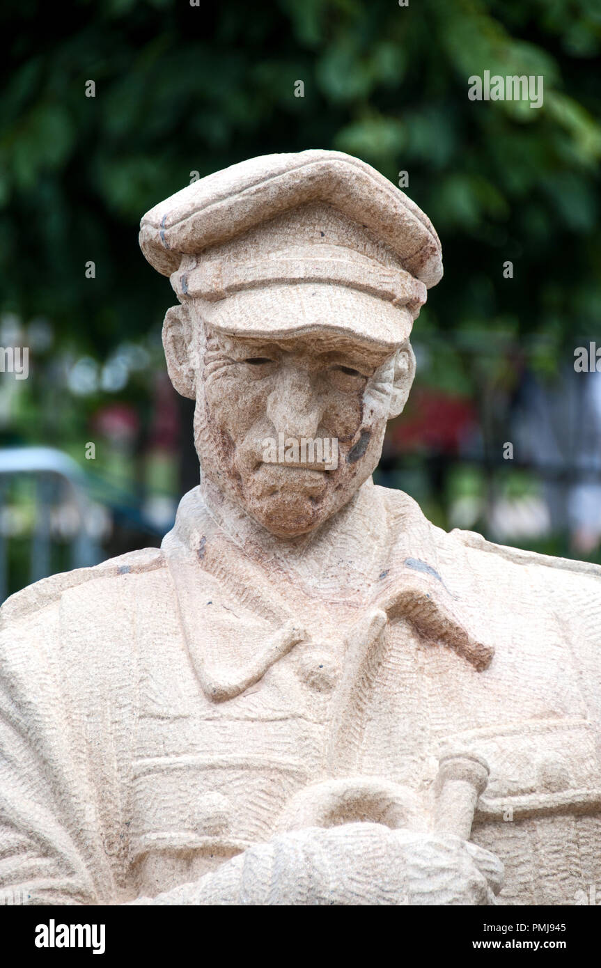 Around the UK - TOMMY A British Soldier WW1 - Remembrance on Armistice Day Stock Photo