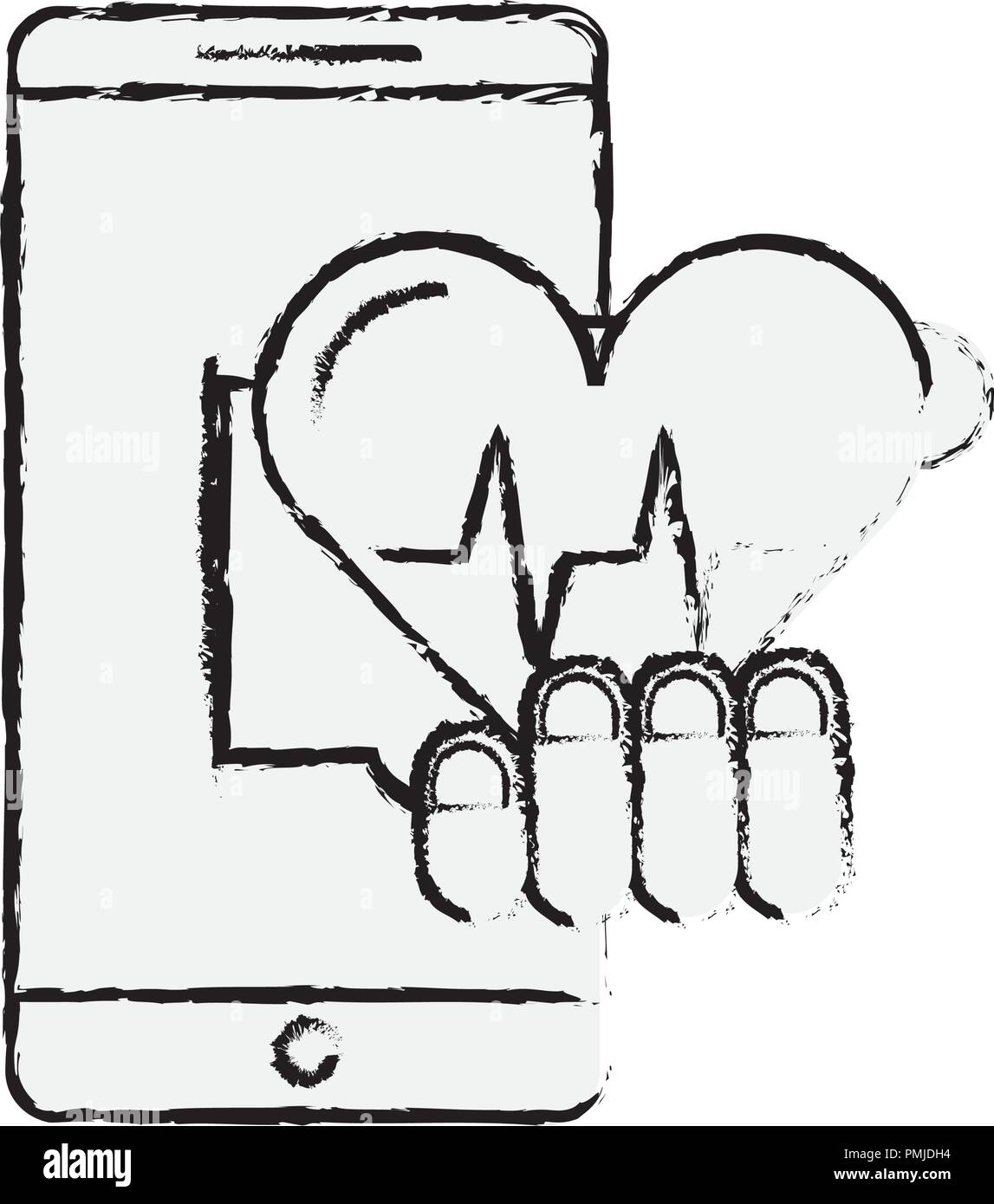 Heartbeat Hand Drawing Stock Photos Heartbeat Hand Drawing Stock