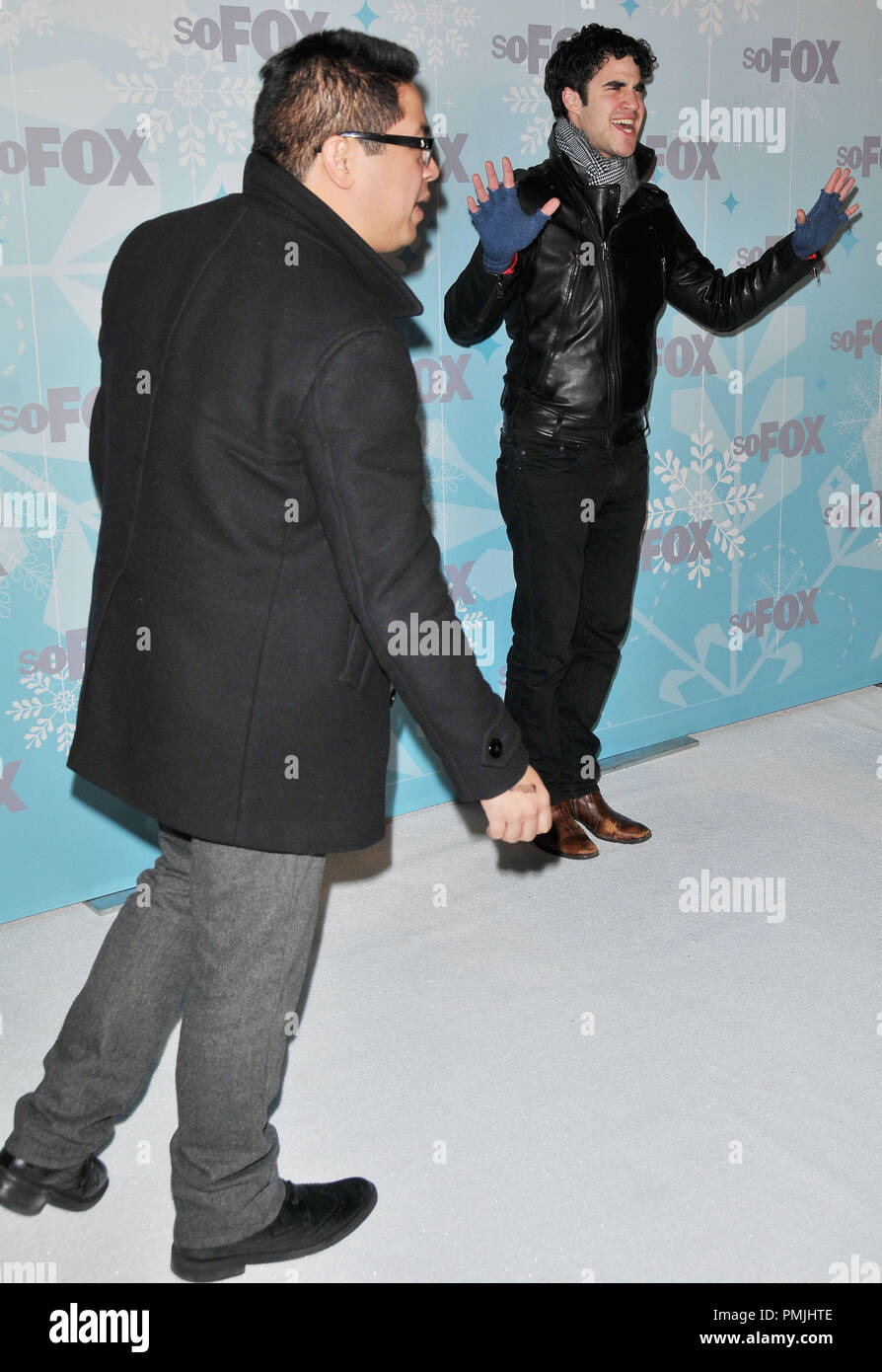 Publicist Michael Samonte & Darren Criss at the 2011 FOX Winter All-Star Party held at the Villa Sorriso Ristorante & Bar in Pasadena, CA. The event took place on Tuesday, January 11, 2011. Photo by PRPP_Pacific Rim Photo Press / PictureLux - Stock Image