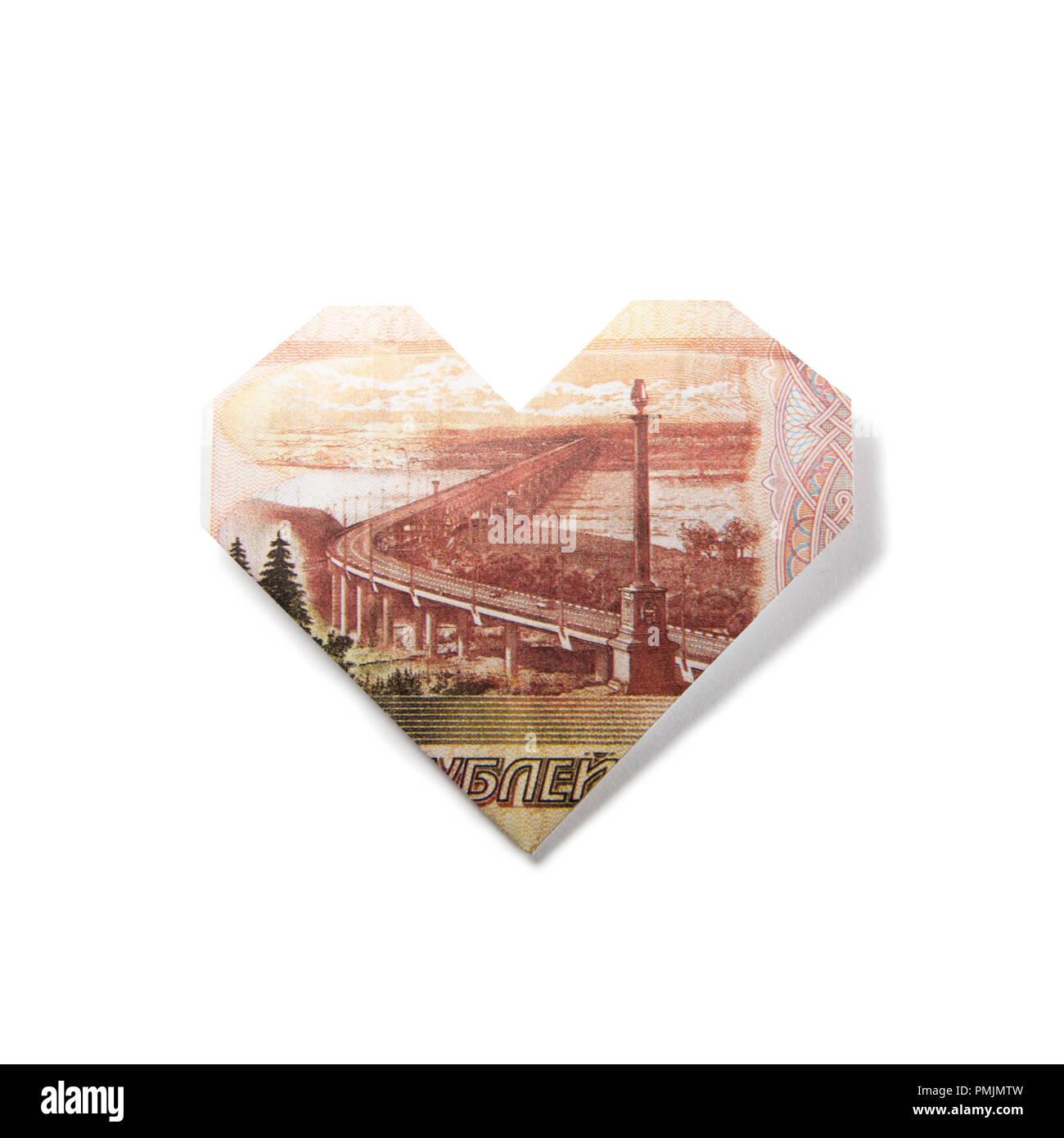 Wondrous Origami Heart Of Banknotes Stock Photo 219229049 Alamy Wiring 101 Photwellnesstrialsorg
