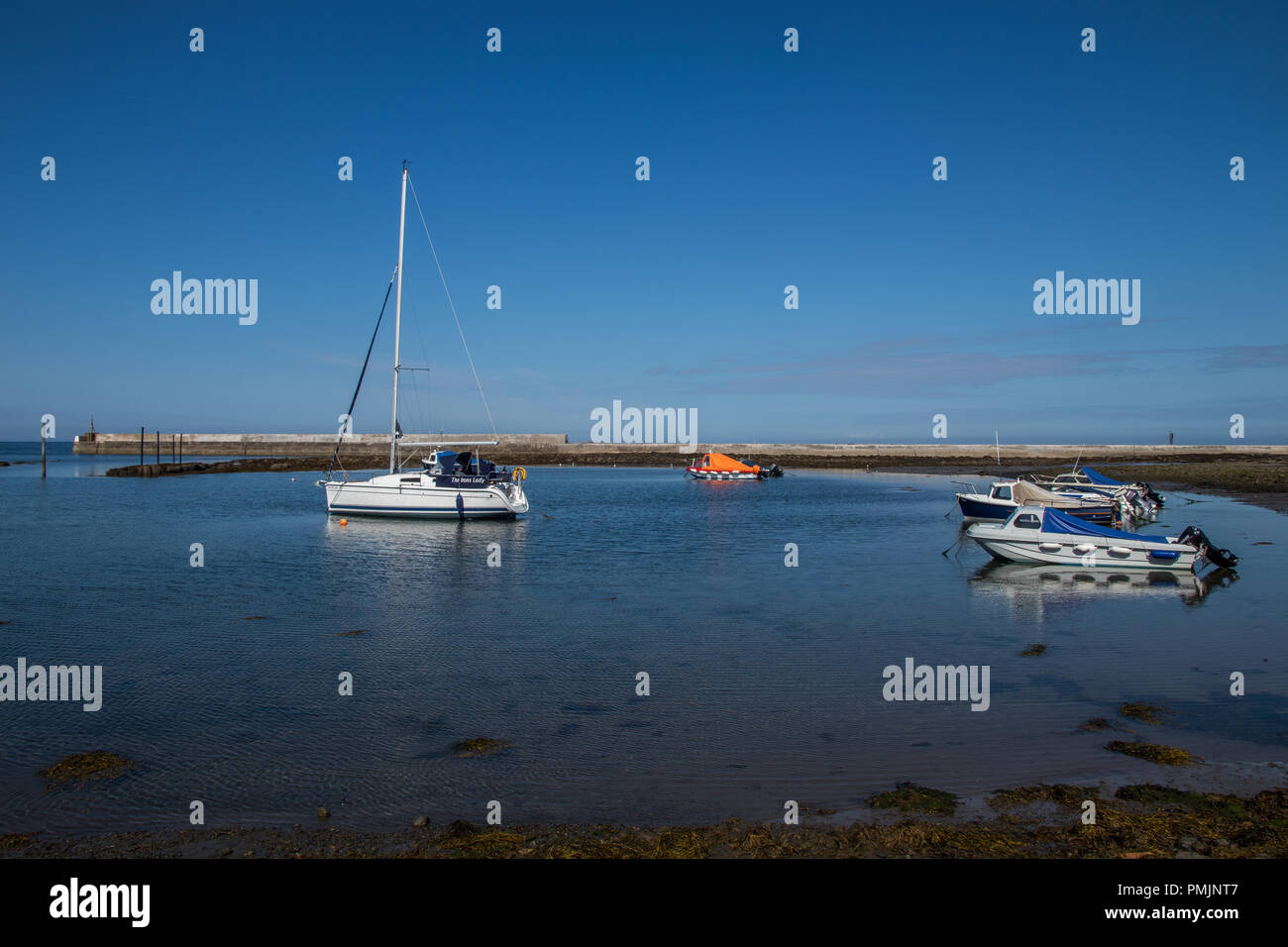 seahouses harbour - Stock Image