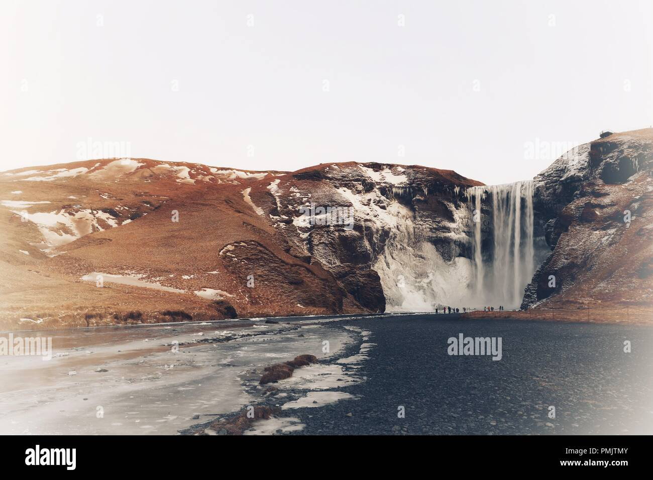 Skogafoss Waterfall, Iceland, Europe - Stock Image