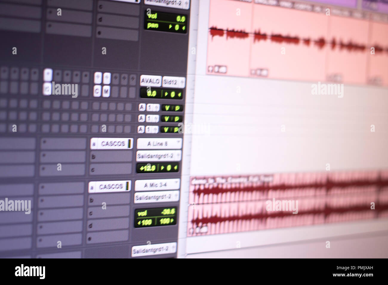 Recording audio studio mixing computer screen program to