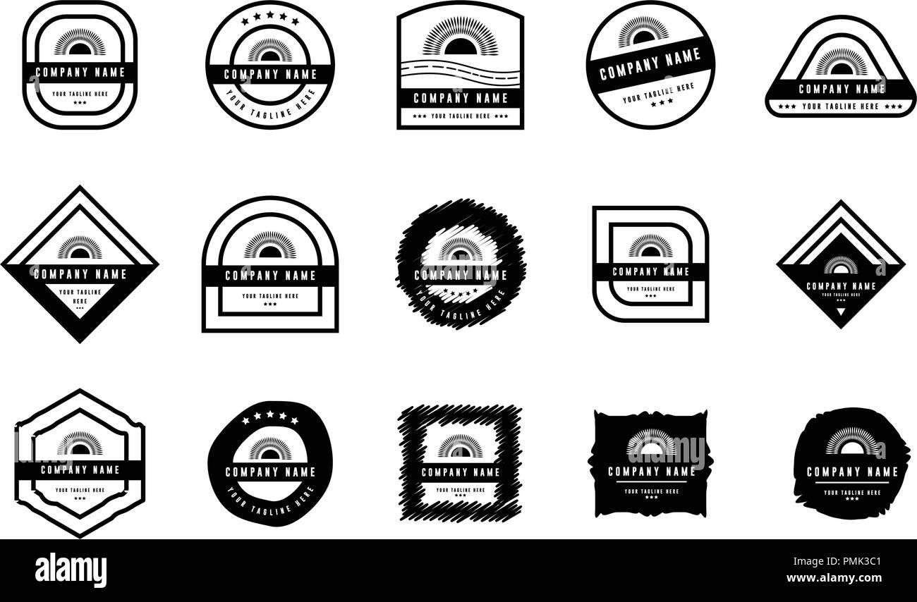 Badge logo set - badges and labels logo - vintage Insignias and logotypes set - Vector Black - Stock Vector