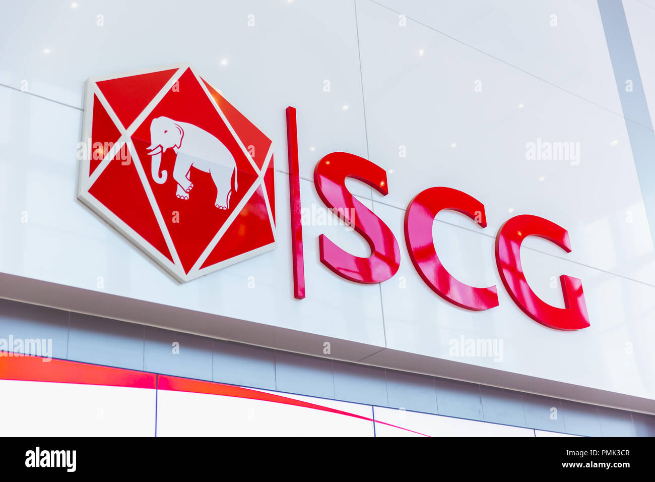 0ce10d0d0 The Siam Cement Group (SCG) logo brand in office building at Bang Sue SCG