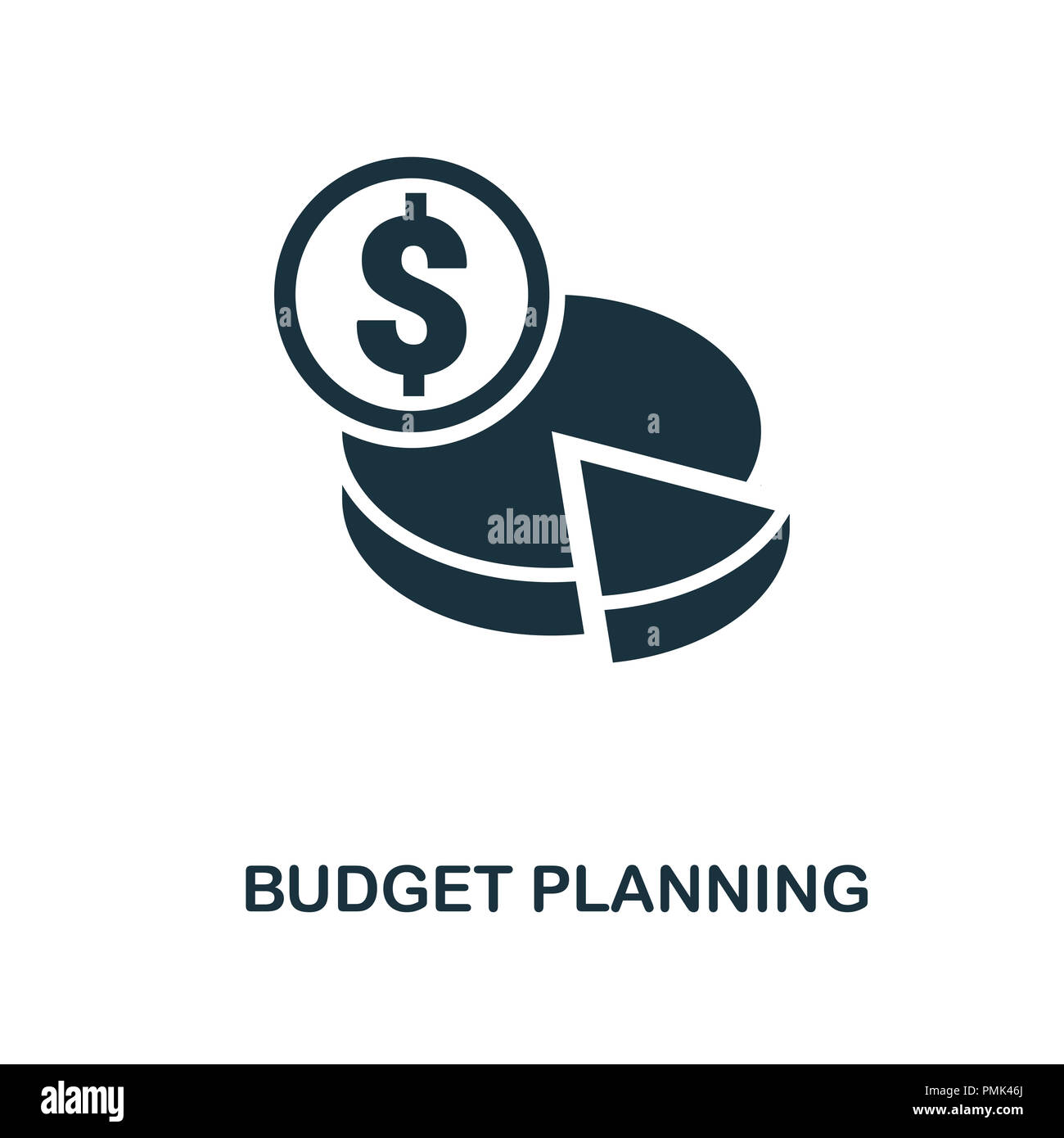 budget planning icon monochrome style design from smm collection