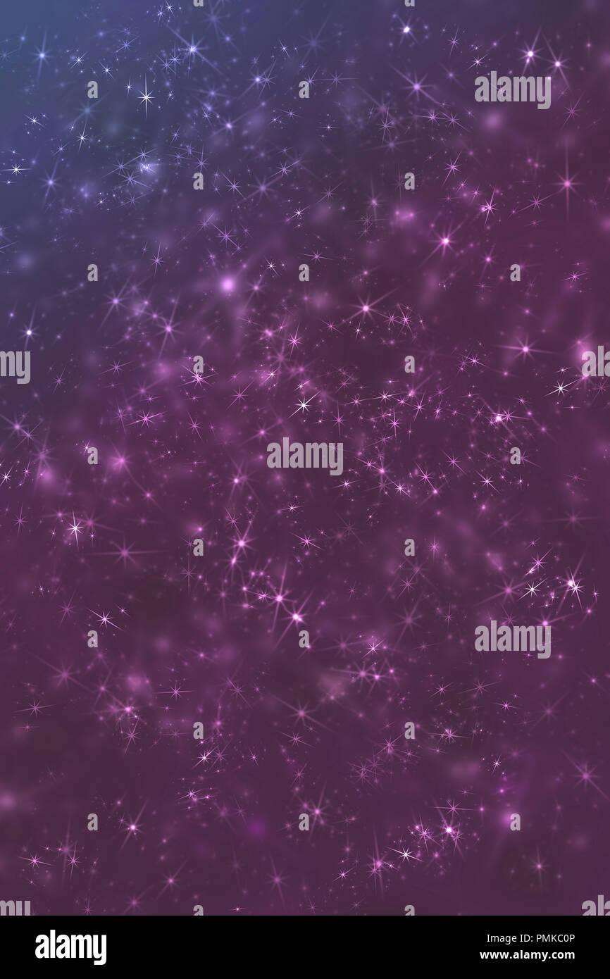 Purple Space Stars Constellation Defocused Pattern Wallpaper