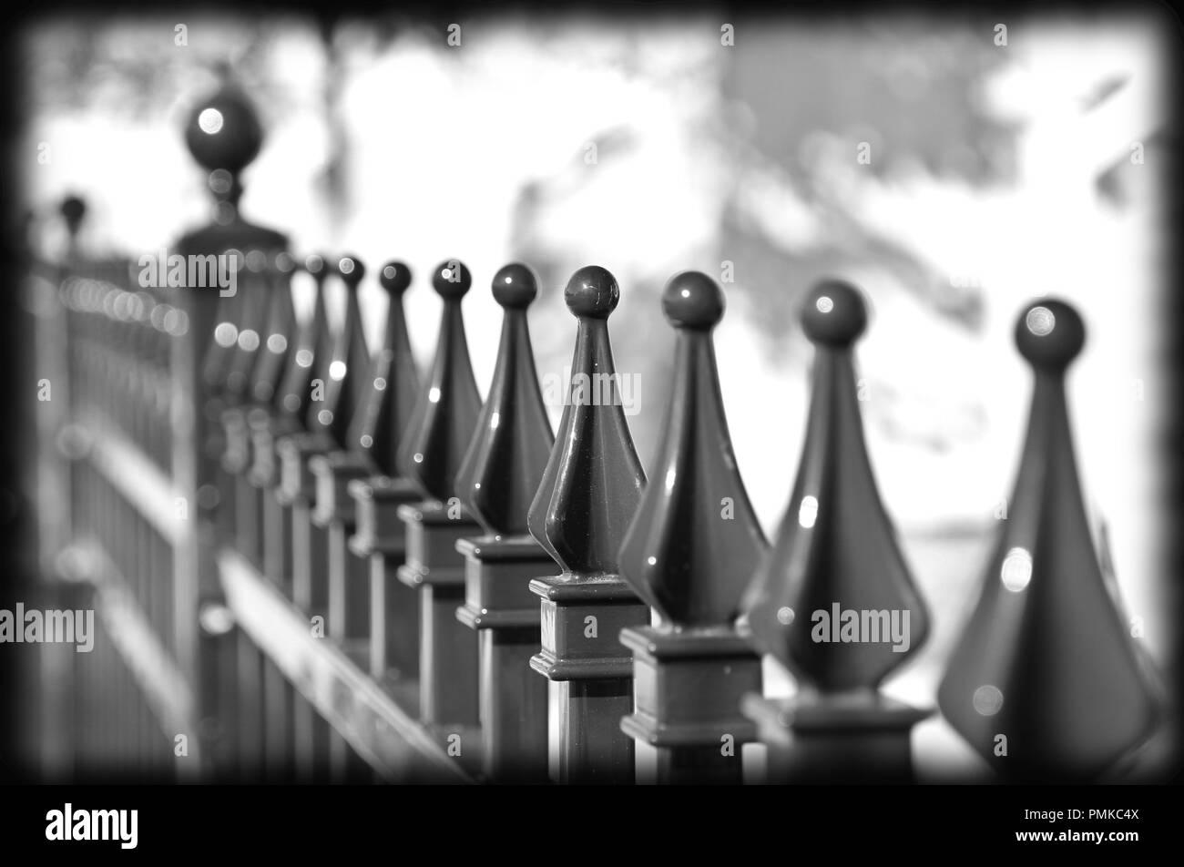 Iron Fence Closeup Stock Photo