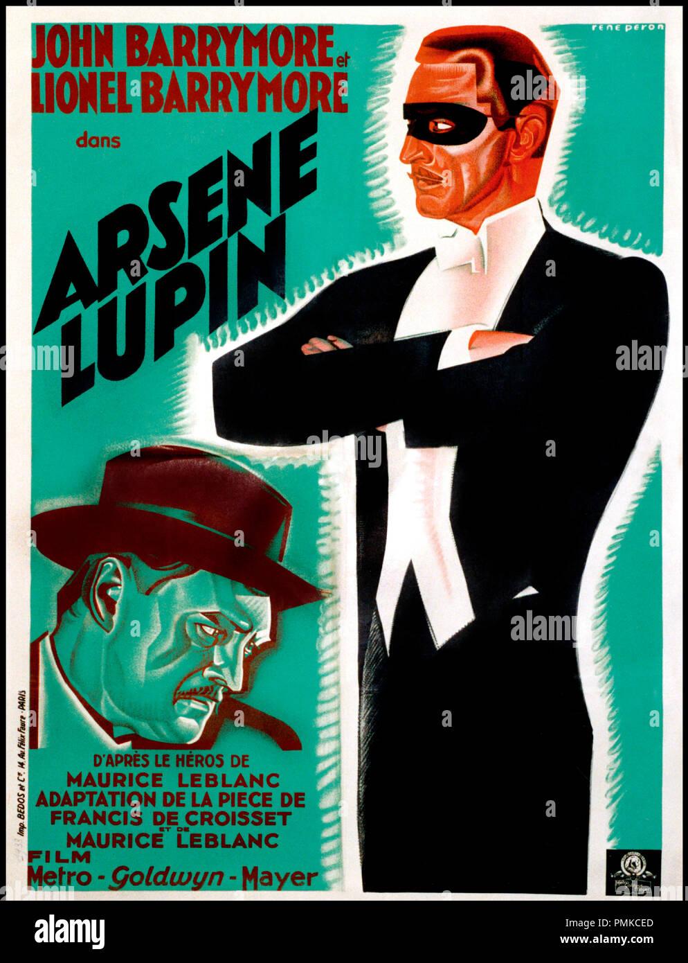 Prod DB © Metro-Goldwyn-Mayer / DR ARSENE LUPIN (ARSENE LUPIN) de Jack Conway 1932 USA affiche d'apres la piece de Francis de Croisset d'apres le personnage de Maurice Leblanc code MGM: 596 Stock Photo