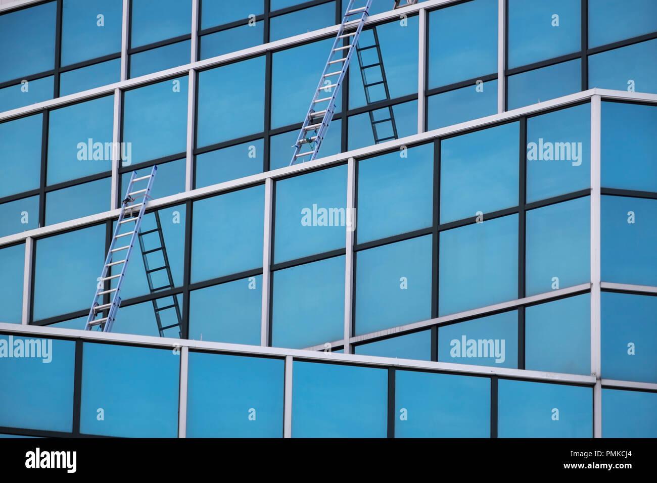 Abstract Architecture, Birmingham, Alabama - Stock Image