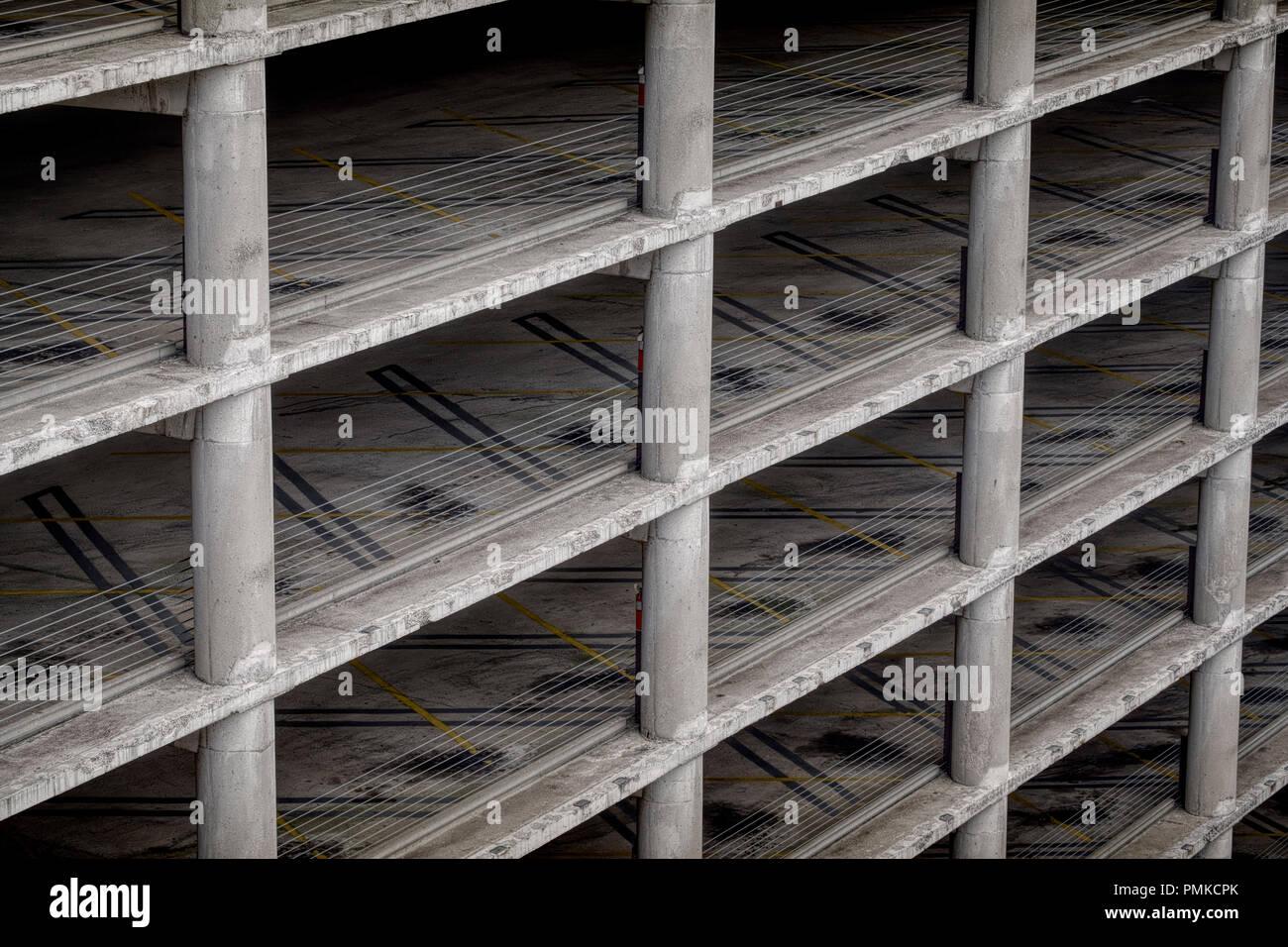 Multi-Storey carpark, Birmingham alabama - Stock Image