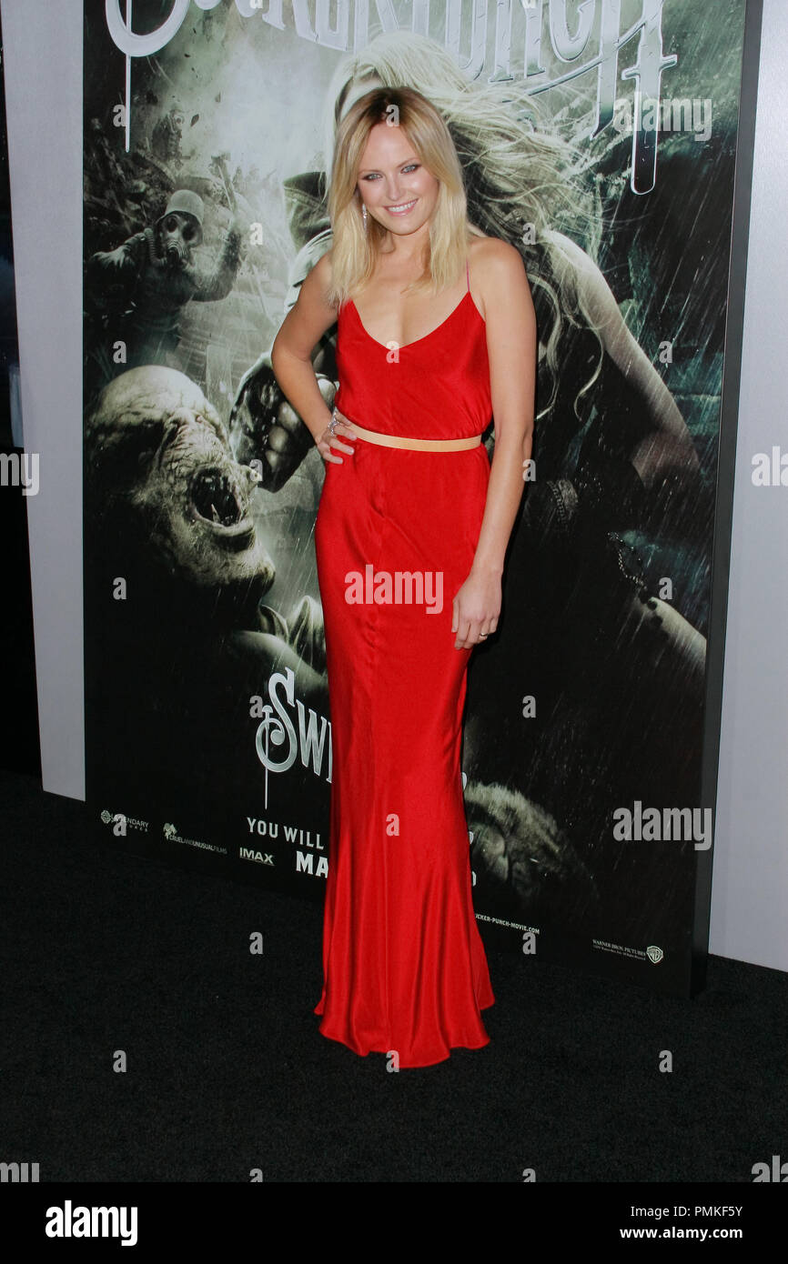Malin Ackerman at the Premiere of Warner Brothers Pictures' 'Sucker Punch'. Arrivals held at Grauman's Chinese Theatre in Hollywood, CA, March 23, 2011.  Photo by Joe Martinez / PictureLux - Stock Image