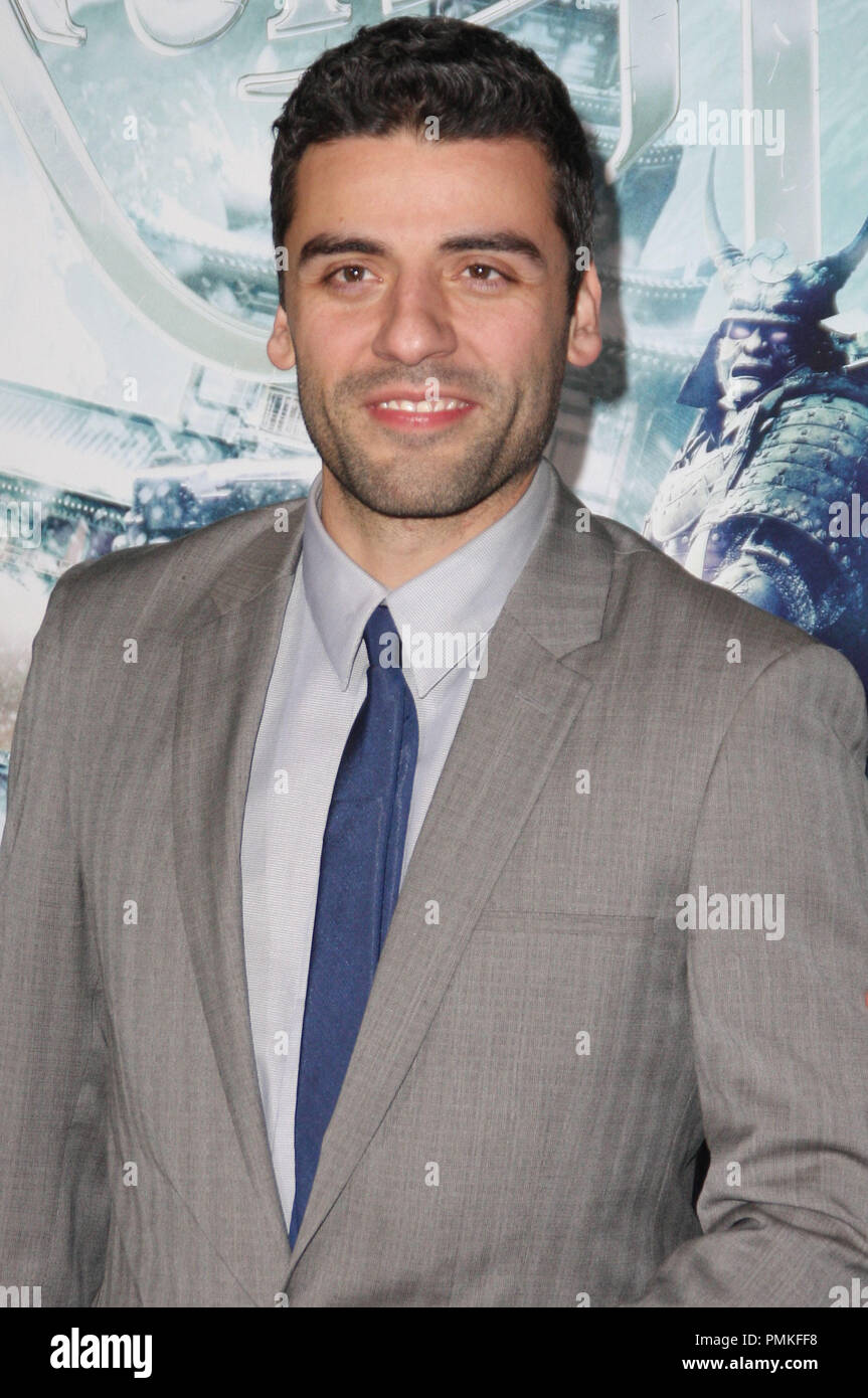Oscar Isaac at the Los Angeles Premiere of 'Sucker Punch' held at the Grauman's Chinese Theatre in Hollywood, CA. The event took place on Wednesday, March 23, 2011. Photo by Peterson Gonzaga_Pacific Rim Photo Press / PictureLux. - Stock Image
