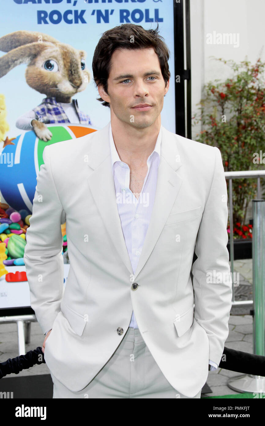 "James Marsden at the premiere of Universal Pictures' ""HOP."" Arrivals held at Universal Studios Hollywood in Universal City, CA, March 27, 2011. Photo by: Richard Chavez / PictureLux Stock Photo"