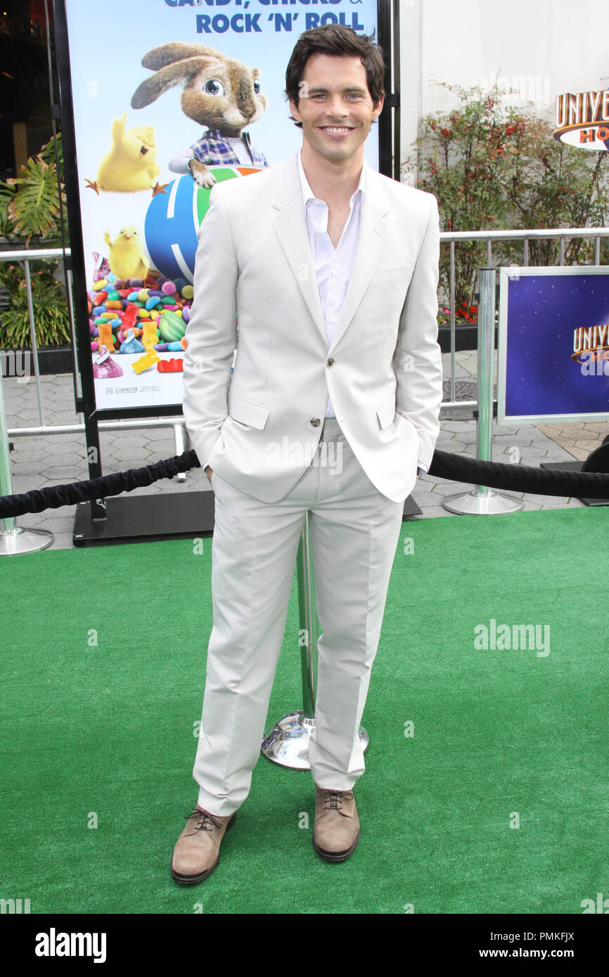 """James Marsden at the premiere of Universal Pictures' """"HOP."""" Arrivals held at Universal Studios Hollywood in Universal City, CA, March 27, 2011. Photo by: Richard Chavez / PictureLux Stock Photo"""