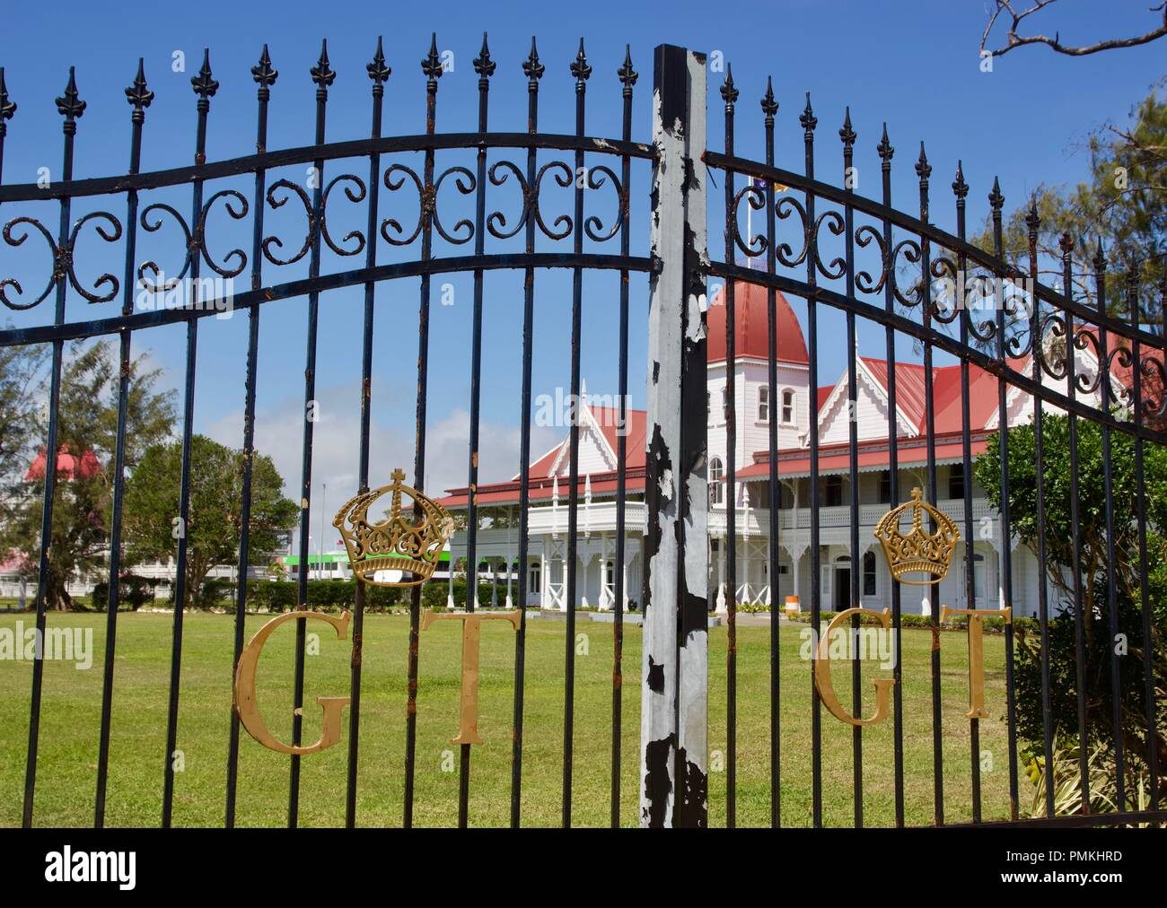 The Royal Palace is a wooden palace and the official residence of the King of Tonga in the capital Nukuʻalofa, Kingdom of Tonga Stock Photo