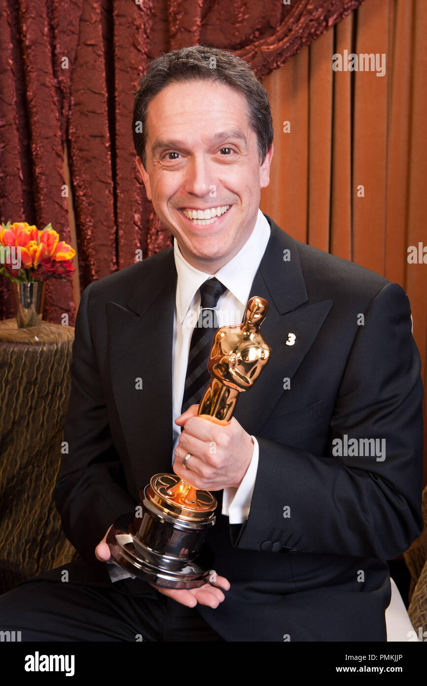 Oscar-winning producer Lee Unkrich, winner for Best Animated Feature Film of the Year for work on 'Toy Story 3,' poses backstage during the live ABC Television Network broadcast of the 83rd Annual Academy Awards from the Kodak Theatre in Hollywood, CA Sunday, February 27, 2011.  File Reference # 30871_388  For Editorial Use Only -  All Rights Reserved - Stock Image