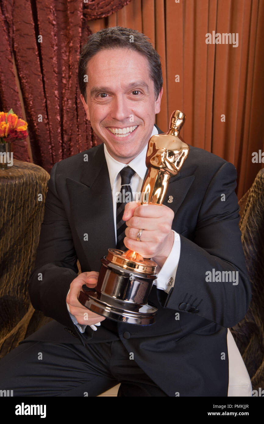 Oscar-winning producer Lee Unkrich, winner for Best Animated Feature Film of the Year for work on 'Toy Story 3,' poses backstage during the live ABC Television Network broadcast of the 83rd Annual Academy Awards from the Kodak Theatre in Hollywood, CA Sunday, February 27, 2011.  File Reference # 30871_389  For Editorial Use Only -  All Rights Reserved - Stock Image