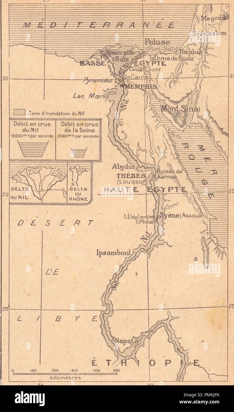 carte de l'égypte des pharaons - Stock Image